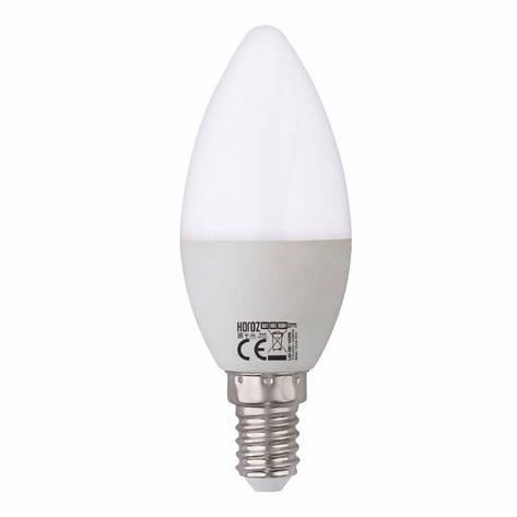 "Лампа светодиодная ""свечка"" 6W 3000K E14 ""ULTRA-6"" Horoz Elecric, фото 2"