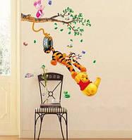 Интерьерная наклейка, декоративная -  детская Винни пух и друзья