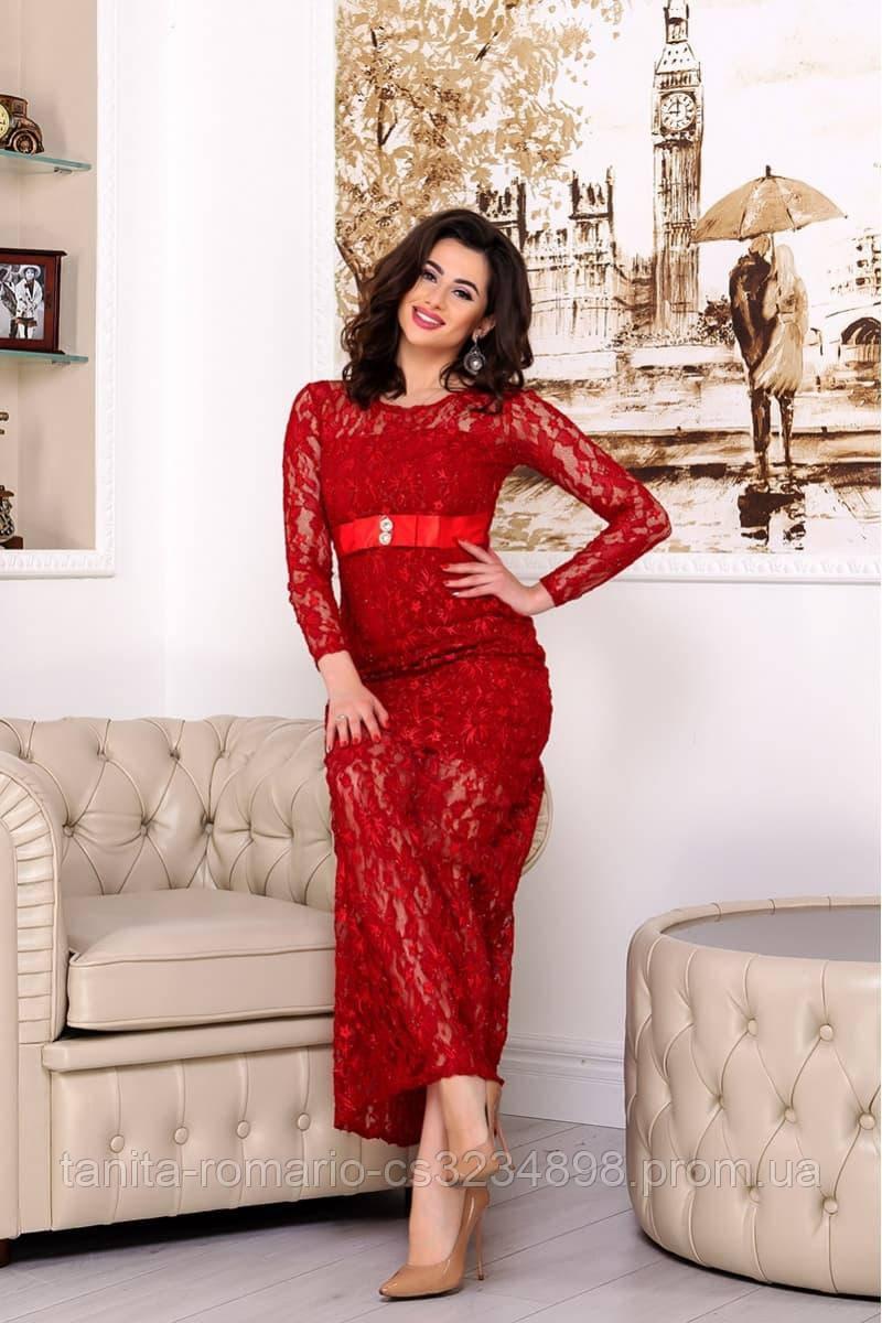 Вечернее платье 4378e Красный S(р)