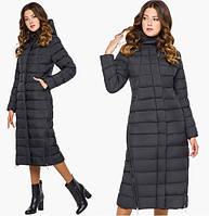 Длинная куртка женская зимняя черная Tiger Force 7789