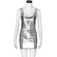 Латексное платье. Эротическое латексное платье короткое., фото 3