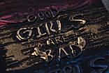 Свитшот молодежный р.122,128,134,140,146,152 для девочки SmileTime Good Girls, темно-серый, фото 4