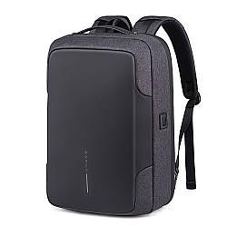 """Деловой рюкзак-трансформер Bange BG-K86, с USB портом, для ноутбука до 17"""", 25л"""