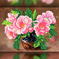 Алмазная вышивка Цветы в вазе размер 30*40 см, полная