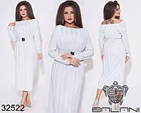Нежное удлиненное платье с открытыми плечами с 48 по 62 размер, фото 1
