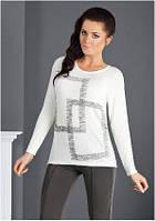 Блузка, кофточка женская белая, футболка с длинным рукавом Top Bis 2015