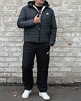 Мужской теплый зимний костюм. Мужской костюм на овчине Nike. 46, фото 1