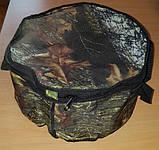 Ведро для прикорма камуфлированное скрышкой, фото 2