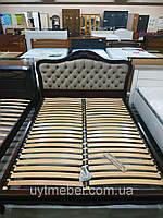 Кровать Магнолия 1600х2000 ольха, шоколад NV-73 колор 4 беж (Альбена)