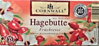 Чай пакетированный Cornwall Hagebutte Hibiskus 25 пакетов