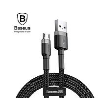Кабель MicroUSB 2.4А для быстрой зарядки Микро ЮСБ Baseus 1м (черный)