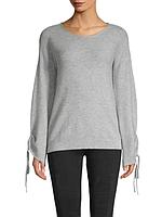 Женская серая шерстяная кофта с кашемиром Saks Fifth Avenue (Размеры - XS,M)
