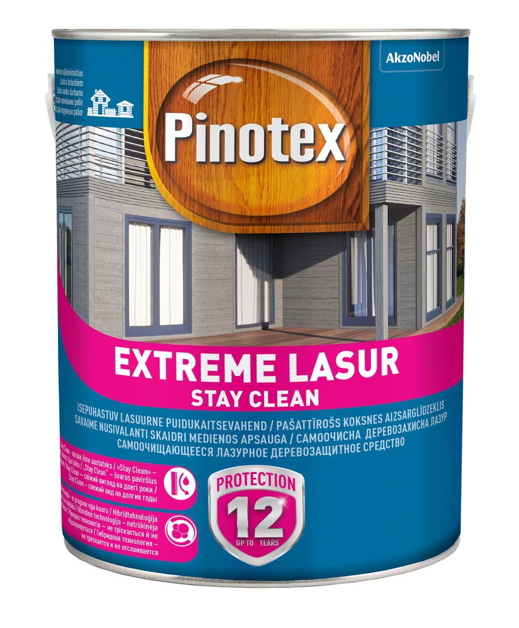 Лазурное деревозащитное средство Pinotex EXTREME LASUR  10 л