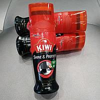 Жидкий крем-блеск для обуви черный Kiwi Shine Protect 75