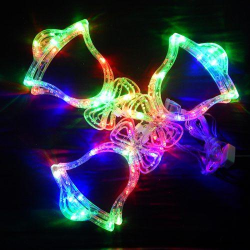 Гирлянда Колокольчик (крупные фигуры), 6 lamp, размер фигурки: 16х20см, мульти, прозрачный провод, 1,5м.
