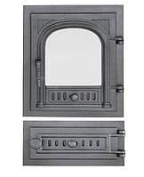 Дверки чугунные Halmat FPG2/7 со стеклом. Дверцы для печи и барбекю, фото 1