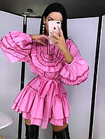 """Женское невероятно эффектное платье """"  Жемчужина """",розового цвета"""