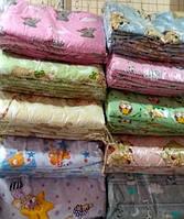 Защита для детской кроватки Голубая Много цветов