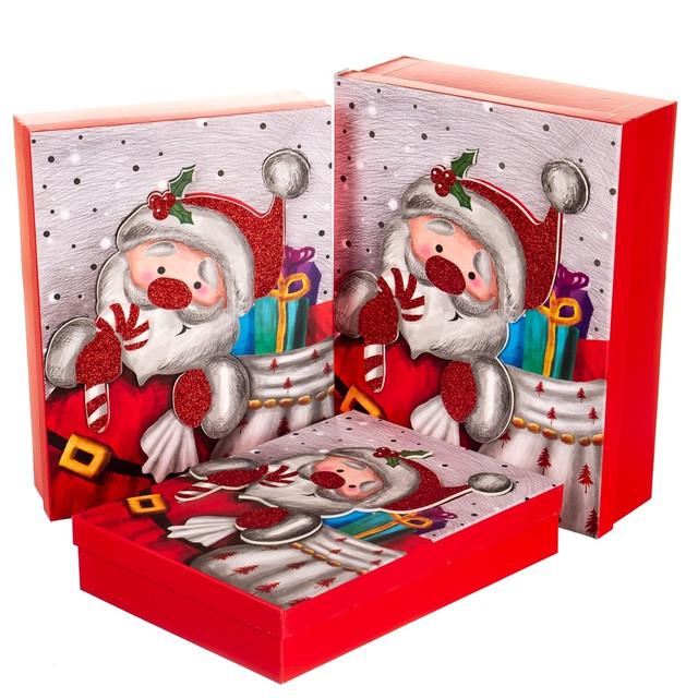 Новогодние картонные подарочные коробки