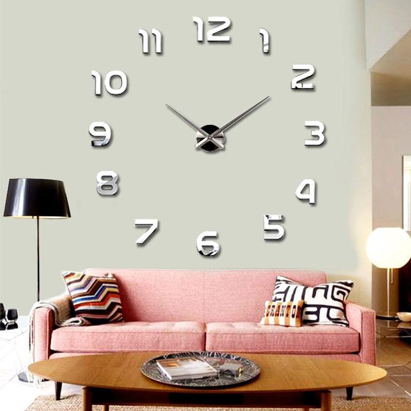 Настенные 3D часы 4202 Серебристые (16-4202-1)