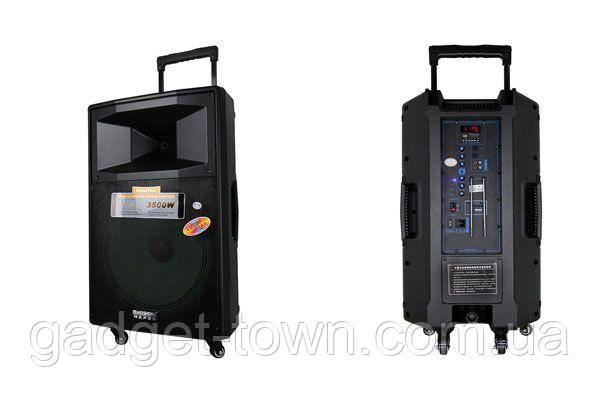 Портативная акустика с микрофонами Temeisheng SL15-04 /400W (USB/Bluetooth/Пульт ДУ/FM)