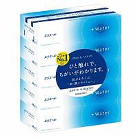 Салфетки бумажные увлажняющие elleair+WATER с глицерином и молекулами воды (опт.упак.,5 кор.*180 шт)