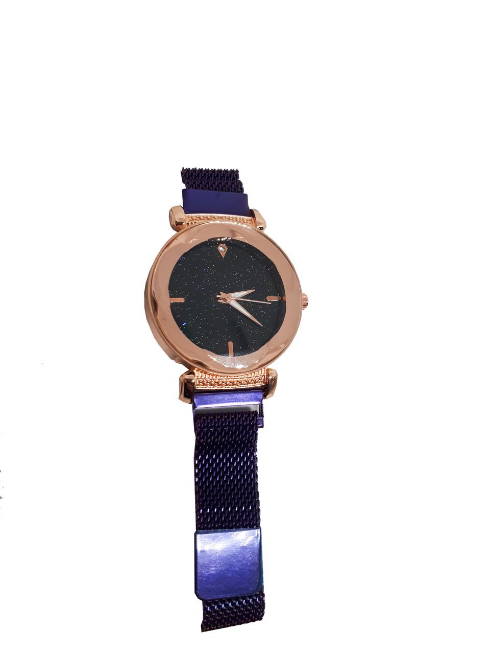 Часы кварцевые  Abeer Shine браслете с магнитом. Фиолетовый.