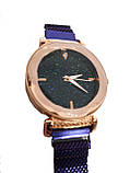 Часы кварцевые  Abeer Shine браслете с магнитом. Фиолетовый., фото 2