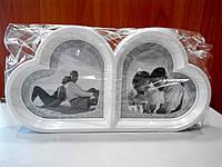 Фоторамка двойная Сердце на 2 фото