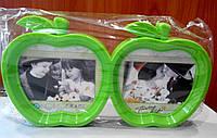 Фоторамка двойная Яблоко на 2 фото