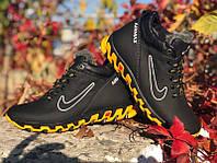 Черные ботинки детские зима кожа Ni0159