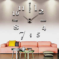 Настенные 3D часы 4215 Серебристые (16-4215-1)