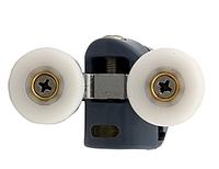 Ролик для душевой кабины двойной, верхний, поворотный, металл d=23мм 8003 UP