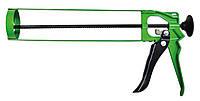 Пистолет для герметика скелетный металлический, зубчатый стержень