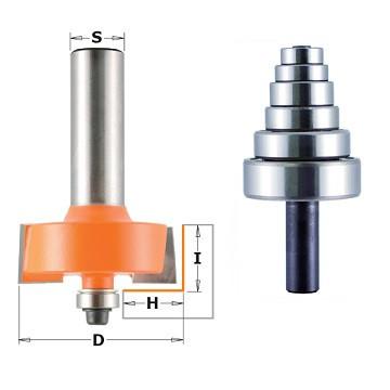 Фреза для вибору чверті з набором підшипників, хвостовик = 12 мм СМТ