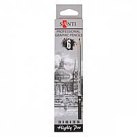 """Набор чернографитных карандашей """"Santi Highly Pro"""", 6 штук 742382"""