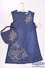 Платье для девочки котоновое  MOONSTAR 260519 Рост:122,128,140