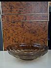 Фруктовниця цукерниця кругла велика скляна коричнева, фото 3