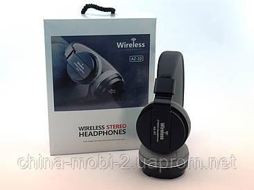 AZ10 навушники з функцією блютуз, AUX, USB, чорні