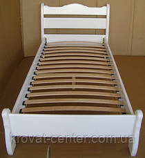 """Біла дитяче ліжко з натурального дерева """"Грета Вульф"""", фото 3"""