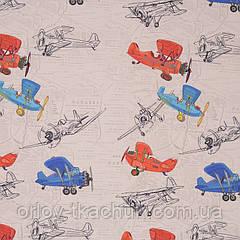 Ткань для штор в детскую Airplines Anka