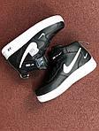 Женские зимние кроссовки Nike Air Force (черно-белые), фото 5