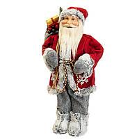 "Декоративная новгодняя фигура ""Дед Мороз с мешком и ёлкой"" (47 см), фото 1"