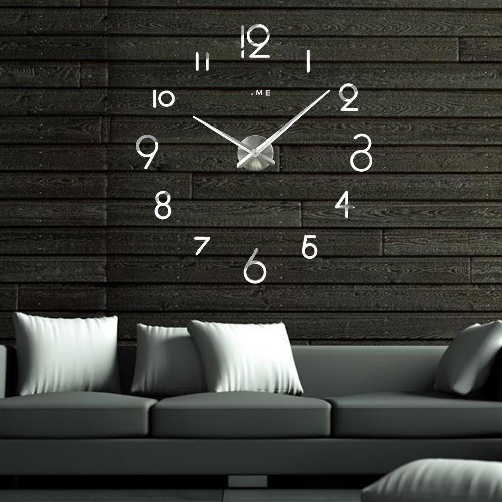 Настенные 3D часы Adenki 4227 Серебристые (16-4227-2)