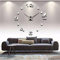 Настенные 3D часы Adenki 4206 Серебристые (16-4206-1)