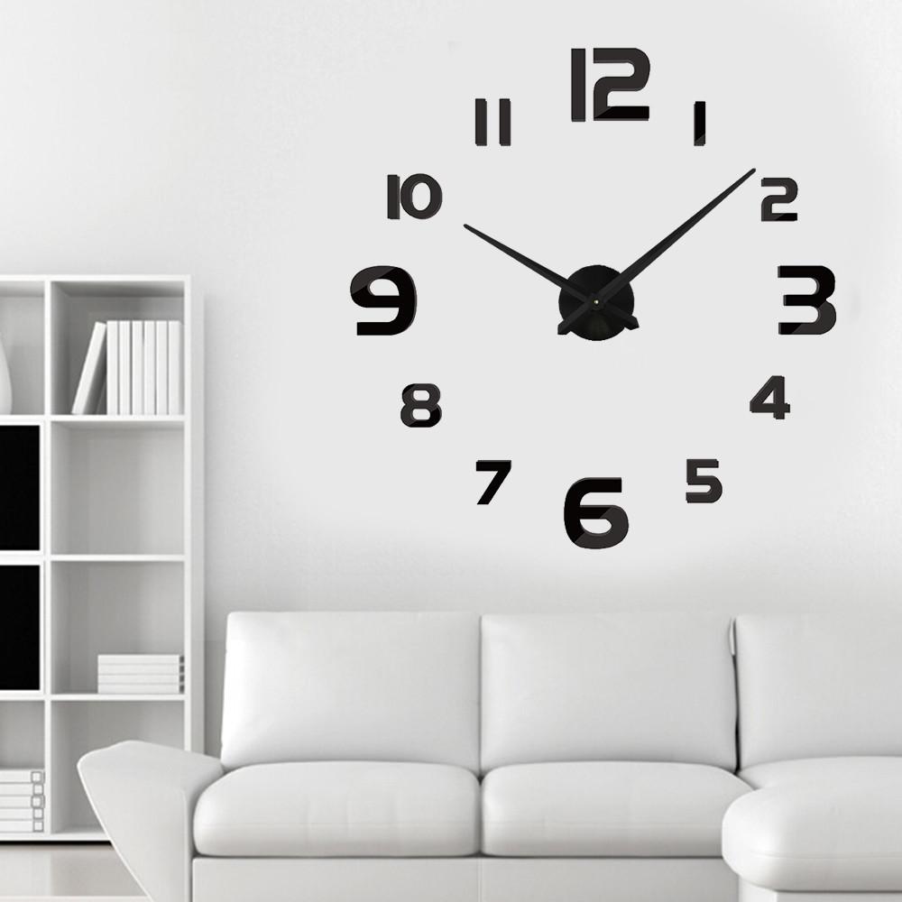Настенные 3D часы Adenki 4228 Черные (16-4228-2)