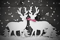 """Новогодний декор, объемная фигура """"Олени"""" для дома, фотозон, офисных помещений, витрин"""