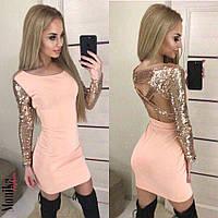 Шикарное вечернее платье с пайетками