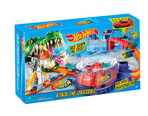 Игровой набор Hot Wheels Атака крокодила   Трек-запуск Hot Wheels 5788