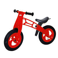 """Велобег 12"""", EVA колеса КРАСНЫЙ (Cross bike) 11-016 Киндервей"""